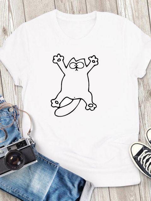 T-shirt męski biały Plama ZUZU