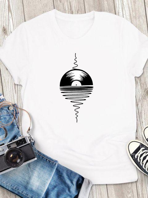 T-shirt męski biały Melodia ZUZU