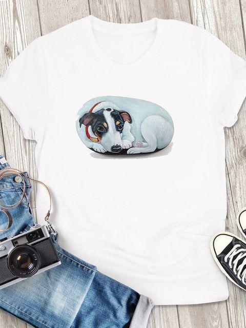 T-shirt męski biały Tęsknie za tobą ZUZU