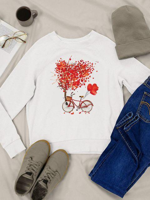 Bluza w kolorze białym Drzewo miłości Love&Live