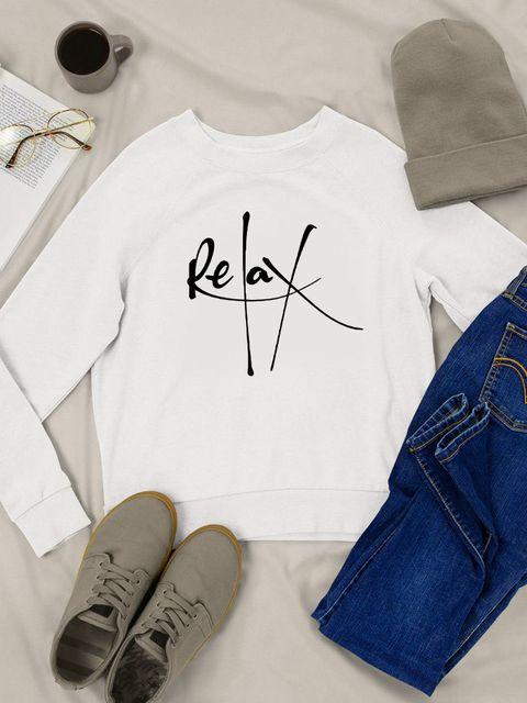 Bluza w kolorze białym Relax Love&Live