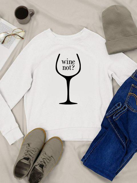 Bluza w kolorze białym Wine not Love&Live