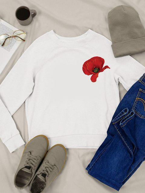 Bluza w kolorze białym Mak Love&Live