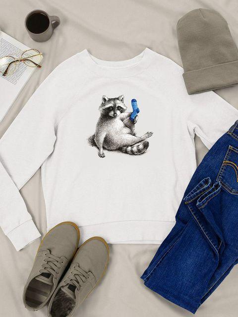 Bluza w kolorze białym Skarpetka Love&Live
