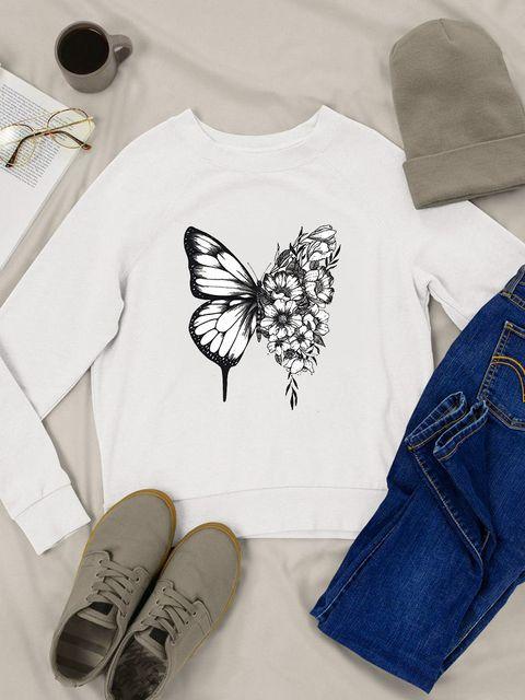 Bluza w kolorze białym Butterfly Love&Live