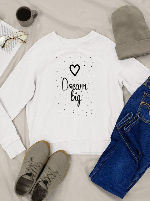 Bluza w kolorze białym Dream big Love&Live