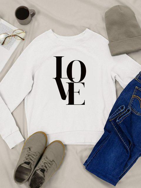 Bluza w kolorze białym Miłość Love&Live