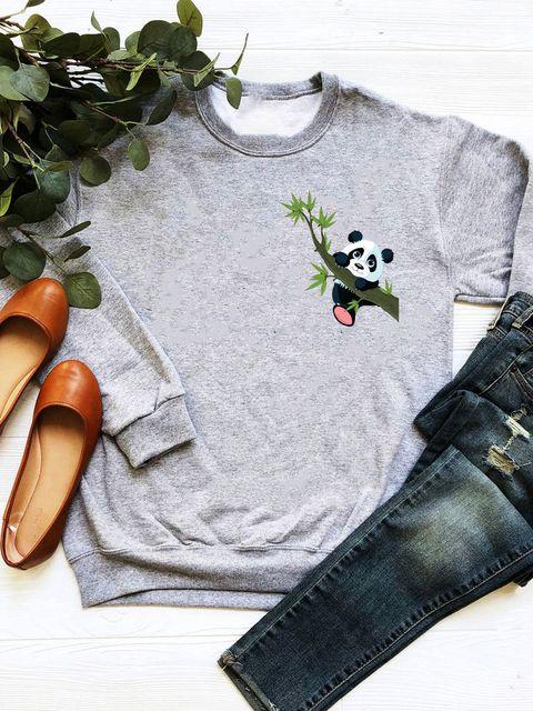 Bluza w kolorze szarym Little Panda Love&Live