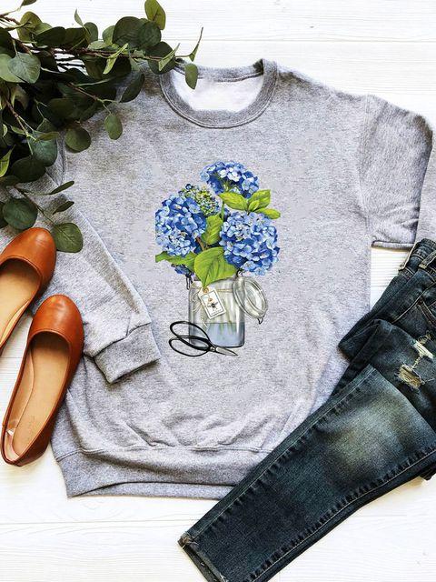 Bluza w kolorze szarym Hortensja Love&Live