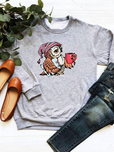 Bluza w kolorze szarym Chodźmy na kawę Love&Live