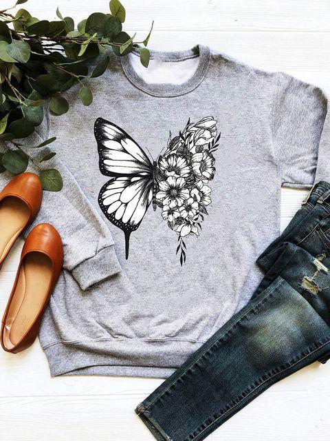 Bluza w kolorze szarym Butterfly Love&Live