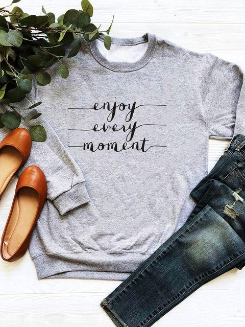 Bluza w kolorze szarym Enjoy every moment Love&Live