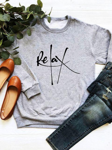 Bluza w kolorze szarym Relax Love&Live