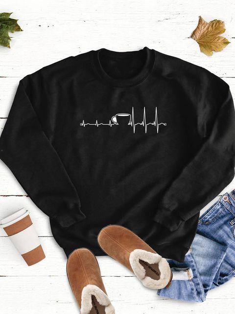 Bluza w kolorze czarnym Kardiokawa Love&Live