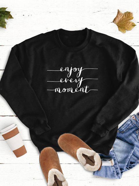 Bluza w kolorze czarnym Enjoy every moment Love&Live