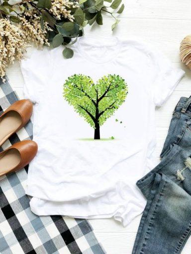 T-shirt biały Wiosna ZUZU