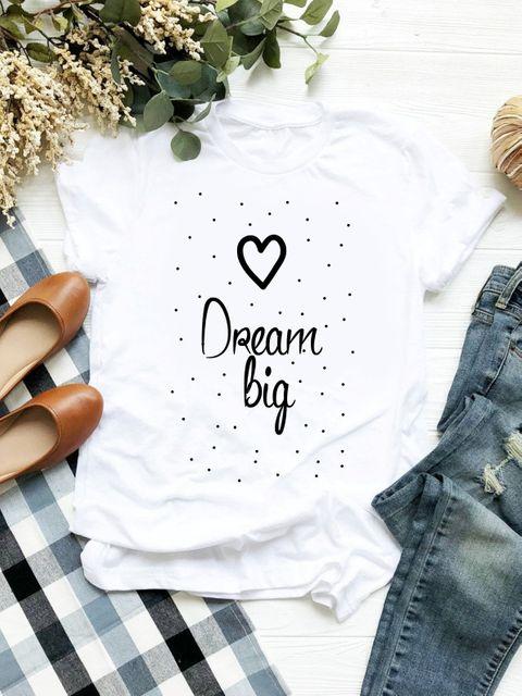 T-shirt biały Dream Big ZUZU