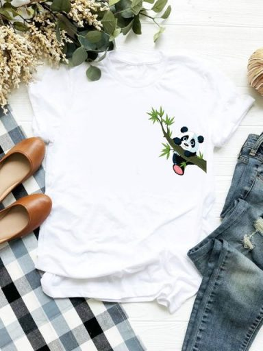 T-shirt biały Little Panda ZUZU