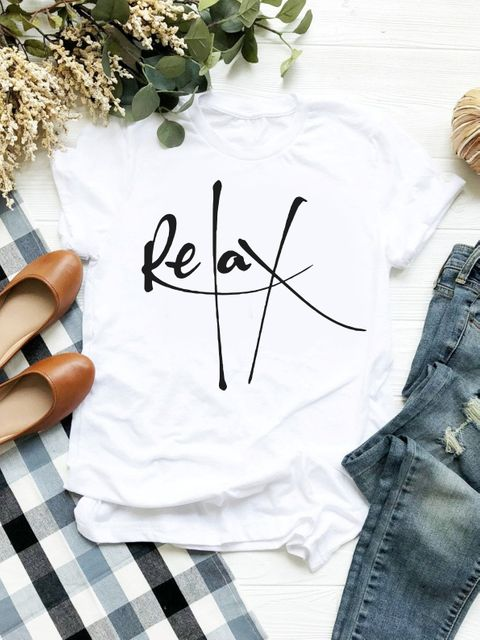 T-shirt biały Relax ZUZU