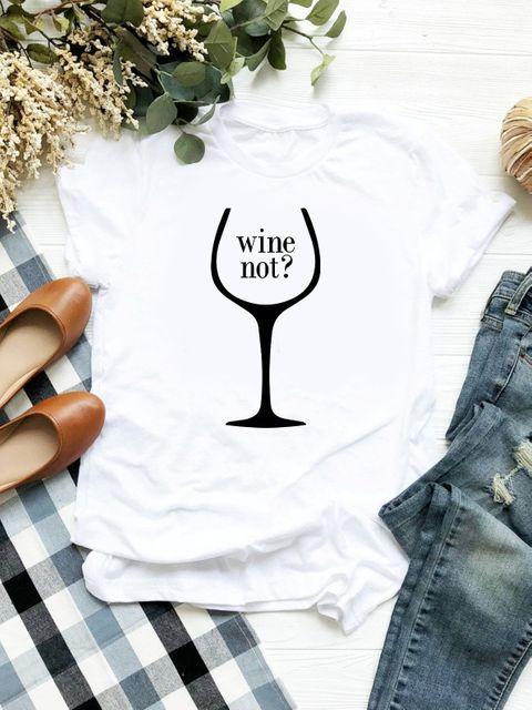 T-shirt biały Wine Not ZUZU