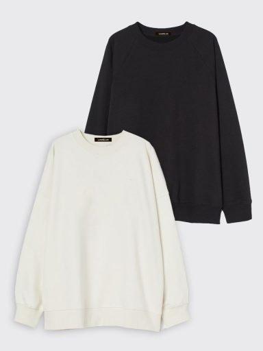 Zestaw bluz (czarna/biała) 2 szt. Love&Live