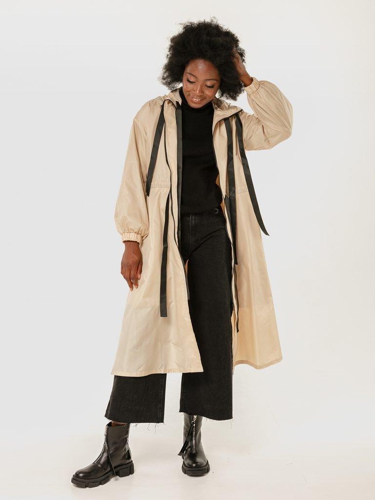 Beżowy płaszcz przeciwdeszczowy Katarina Ivanenko (zdjęcie 2)