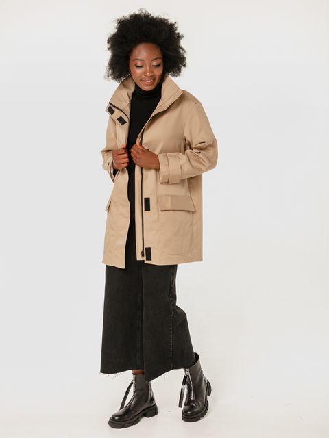 Beżowy płaszcz przeciwdeszczowy Katarina Ivanenko (zdjęcie 4)