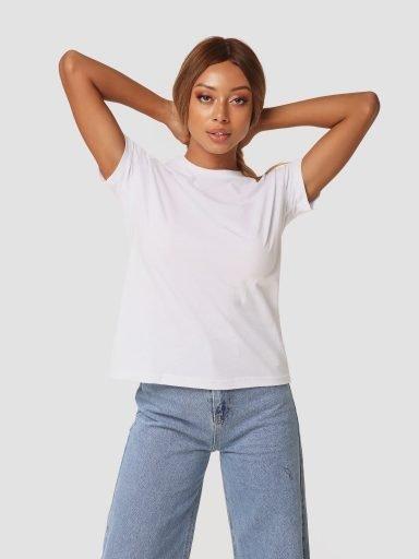 T-shirt biały z okrągłym dekoltem ZUZU (zdjęcie 13)