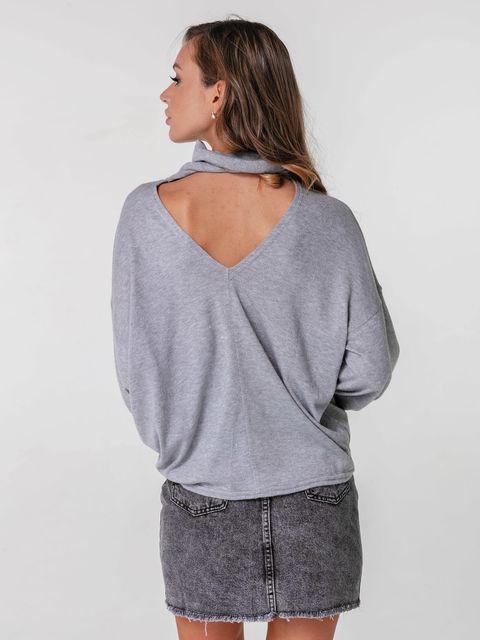 Sweter szary z wycięciem na plecach Katarina Ivanenko