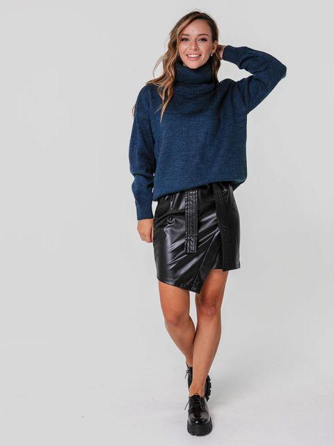 Sweter ciemnoniebieski o luźnym kroju Katarina Ivanenko