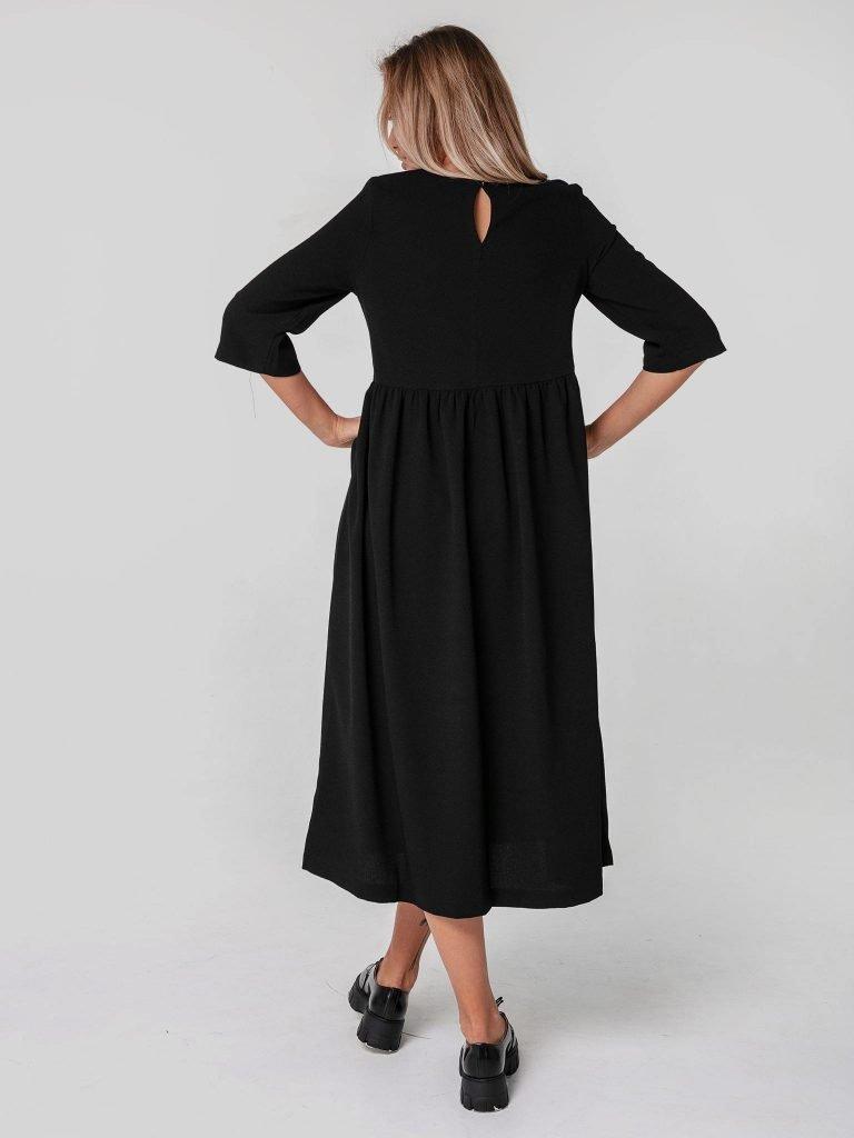 Czarna sukienka maxi luźna w kroju Katarina Ivanenko (zdjęcie 4)
