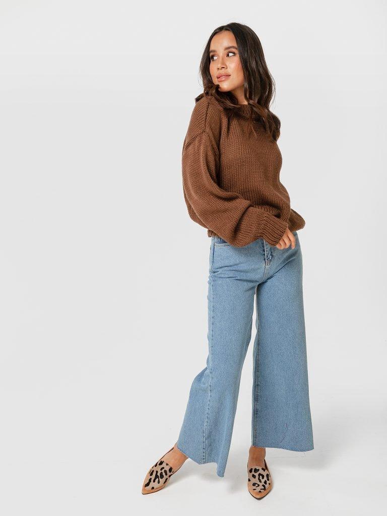 Sweter brązowy Katarina Ivanenko (zdjęcie 3)