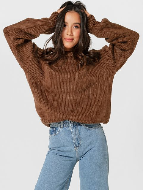 Sweter brązowy Katarina Ivanenko
