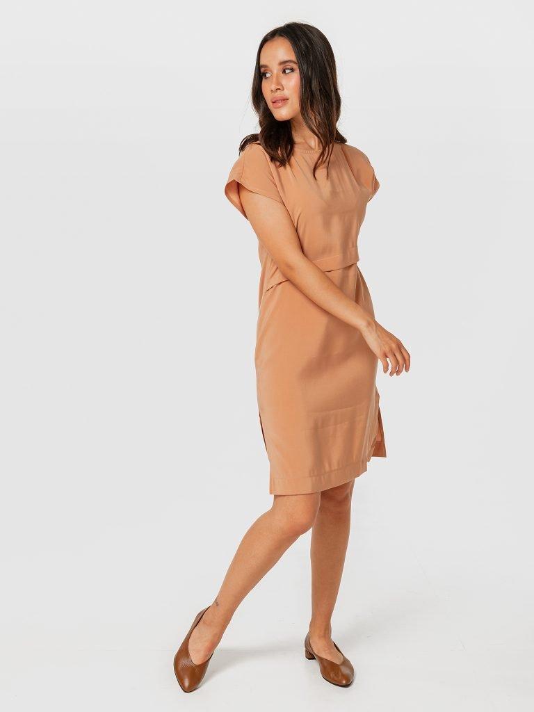 Beżowa sukienka mini Katarina Ivanenko