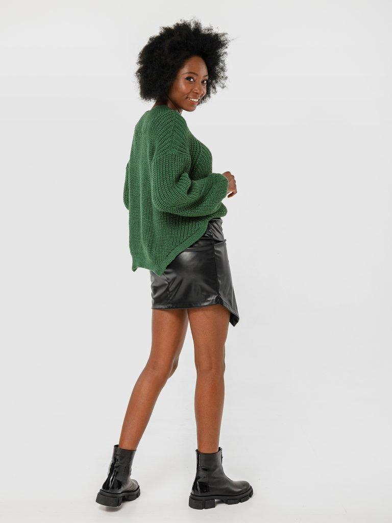 Czarna asymetryczna spódnica mini Katarina Ivanenko (zdjęcie 3)