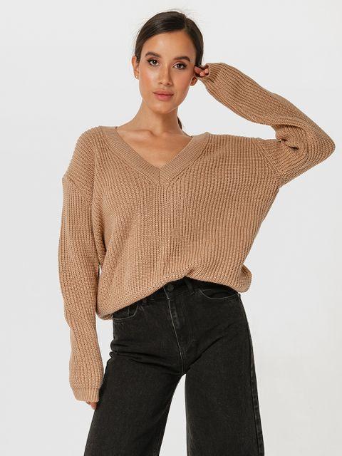 Sweter beżowy w klasycznym stylu Katarina Ivanenko