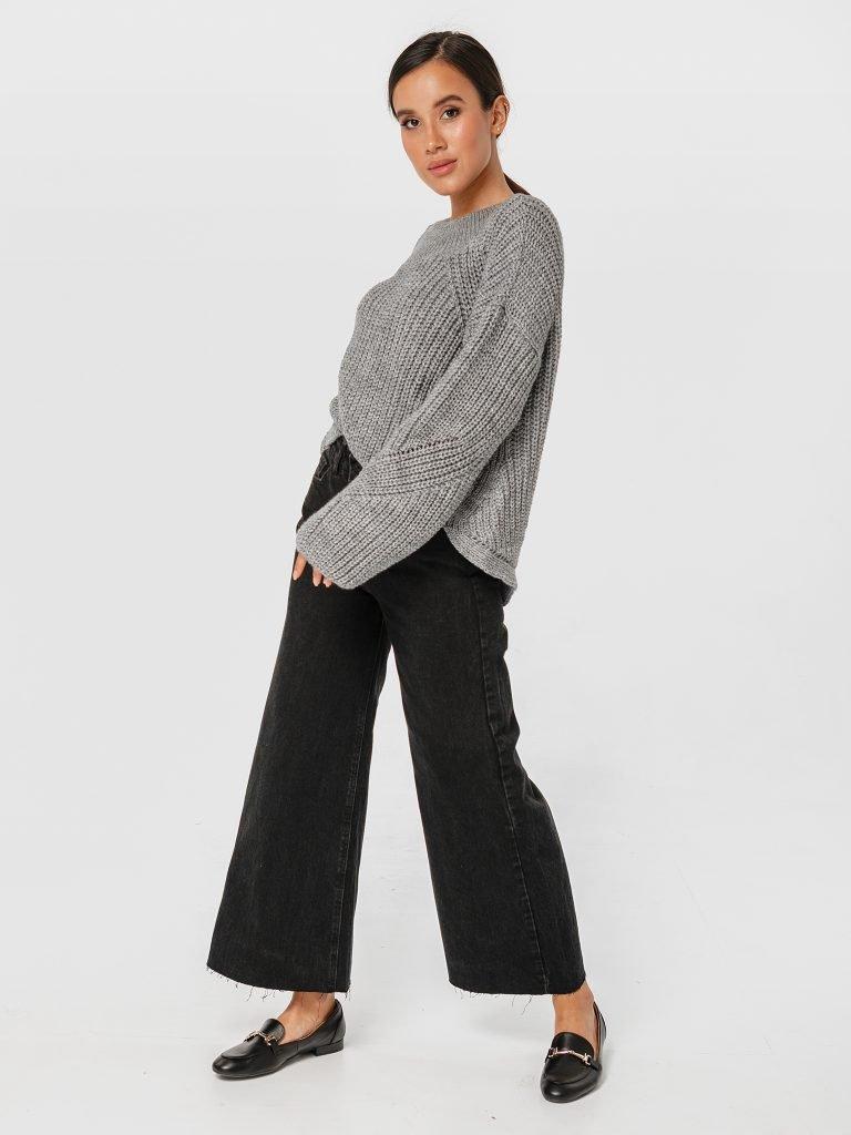 Szary sweter o luźnym kroju Katarina Ivanenko (zdjęcie 2)