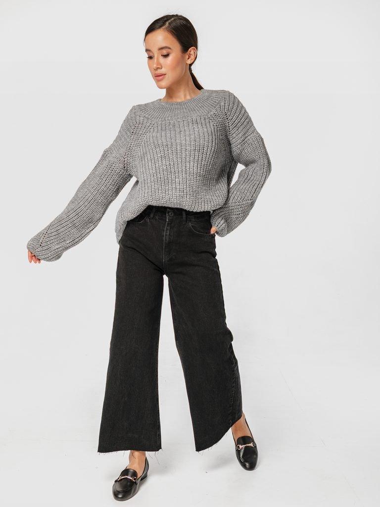 Szary sweter o luźnym kroju Katarina Ivanenko (zdjęcie 3)
