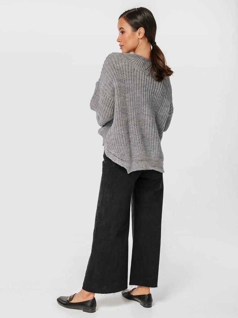 Szary sweter o luźnym kroju Katarina Ivanenko (zdjęcie 4)