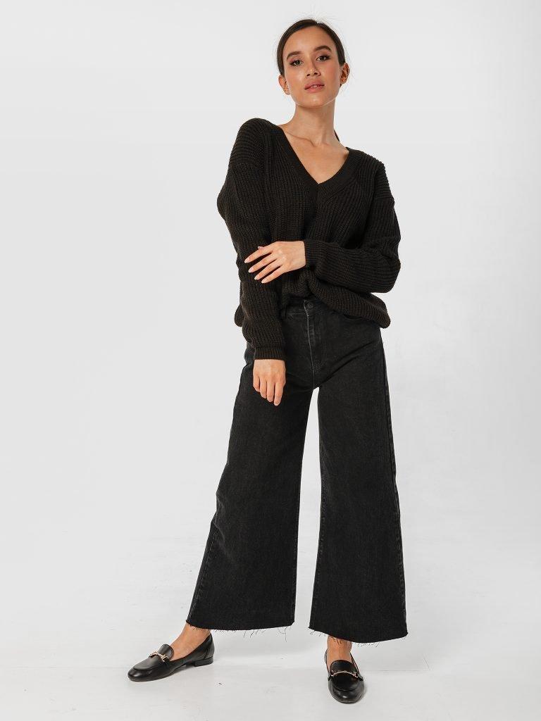 Sweter czarny w klasycznym stylu Katarina Ivanenko (zdjęcie 4)