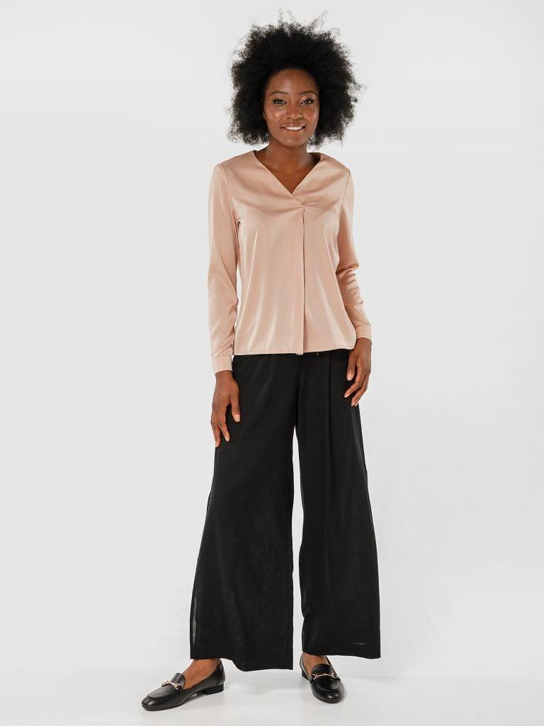Spodnie czarne szerokie Katarina Ivanenko (zdjęcie 2)