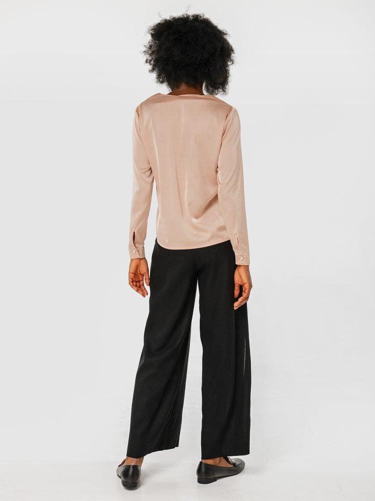 Spodnie czarne szerokie Katarina Ivanenko (zdjęcie 3)