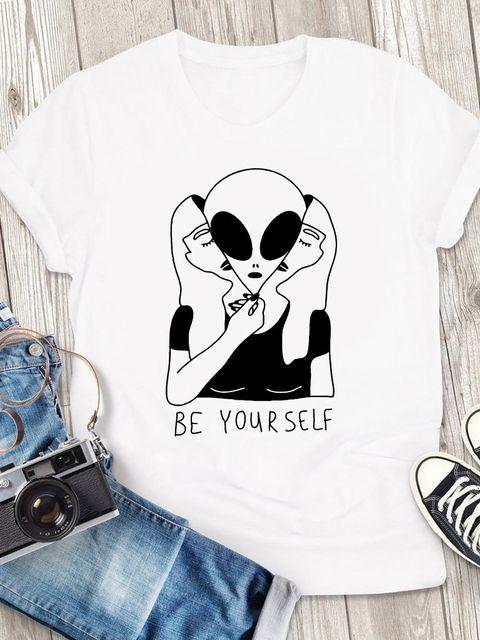 T-shirt męski biały Be yourself ZUZU