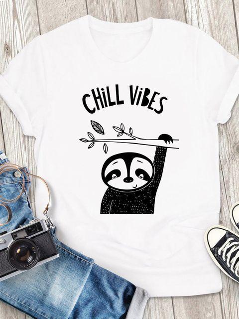 T-shirt męski biały Chill Vibes ZUZU