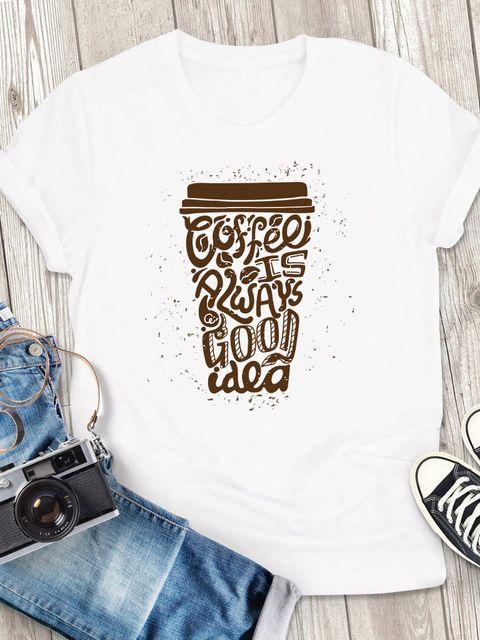 T-shirt męski biały Coffee is always a good idea - 2 ZUZU