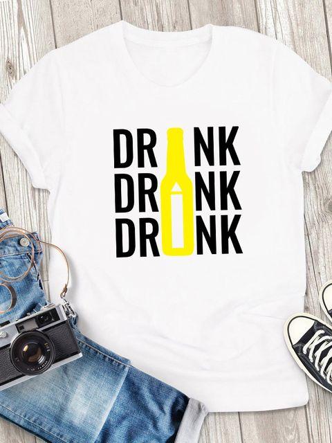 T-shirt męski biały Drink ZUZU
