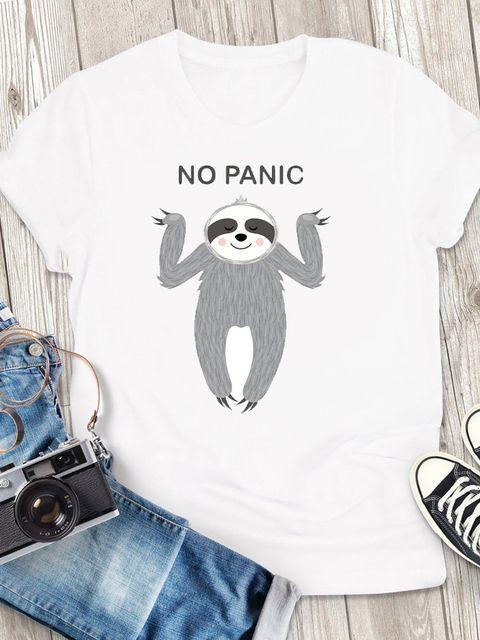 T-shirt męski biały No Panic ZUZU