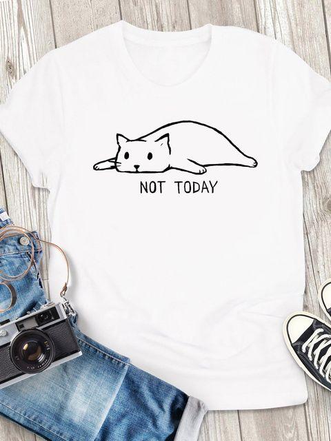 T-shirt męski biały Not today ZUZU