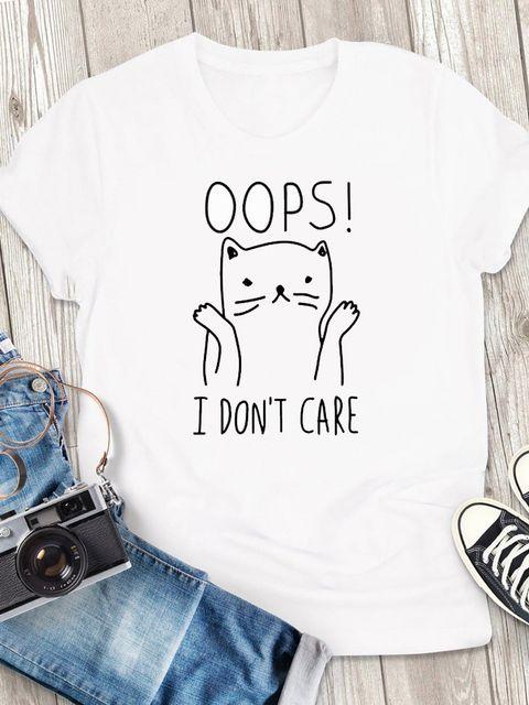 T-shirt męski biały Oops! ZUZU