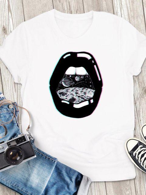 T-shirt męski biały Space ZUZU